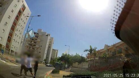 הנהג הותקף באמצע הרחוב