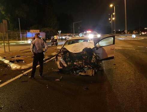 הרכב שהיה מעורב בתאונה