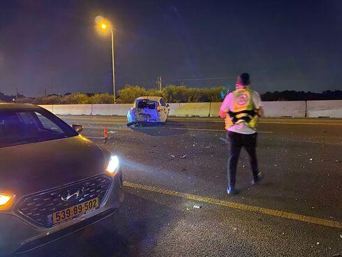 מזירת התאונה הקשה בכביש 4