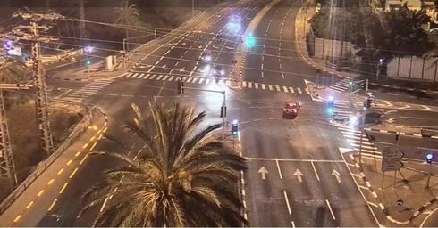 צומת בית עובד בשעת לילה מאוחרת | צילום: נתיבי ישראל 2120*