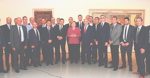 מרקל, נתניהו ובכירים מתעשיית ההייטק הישראלית |צילום: אבי דוד, צלם משרד החוץ