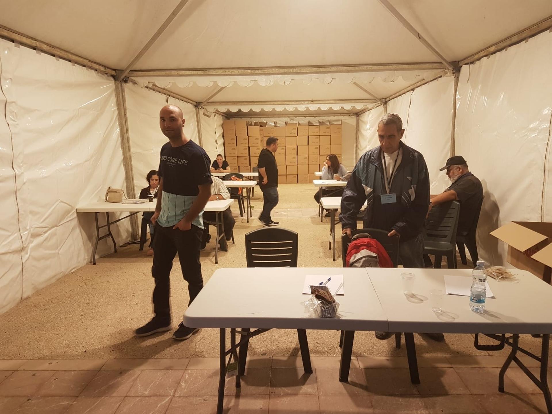 אוהל הספירה מוכן לפעולה   צילום: אביגיל קדם