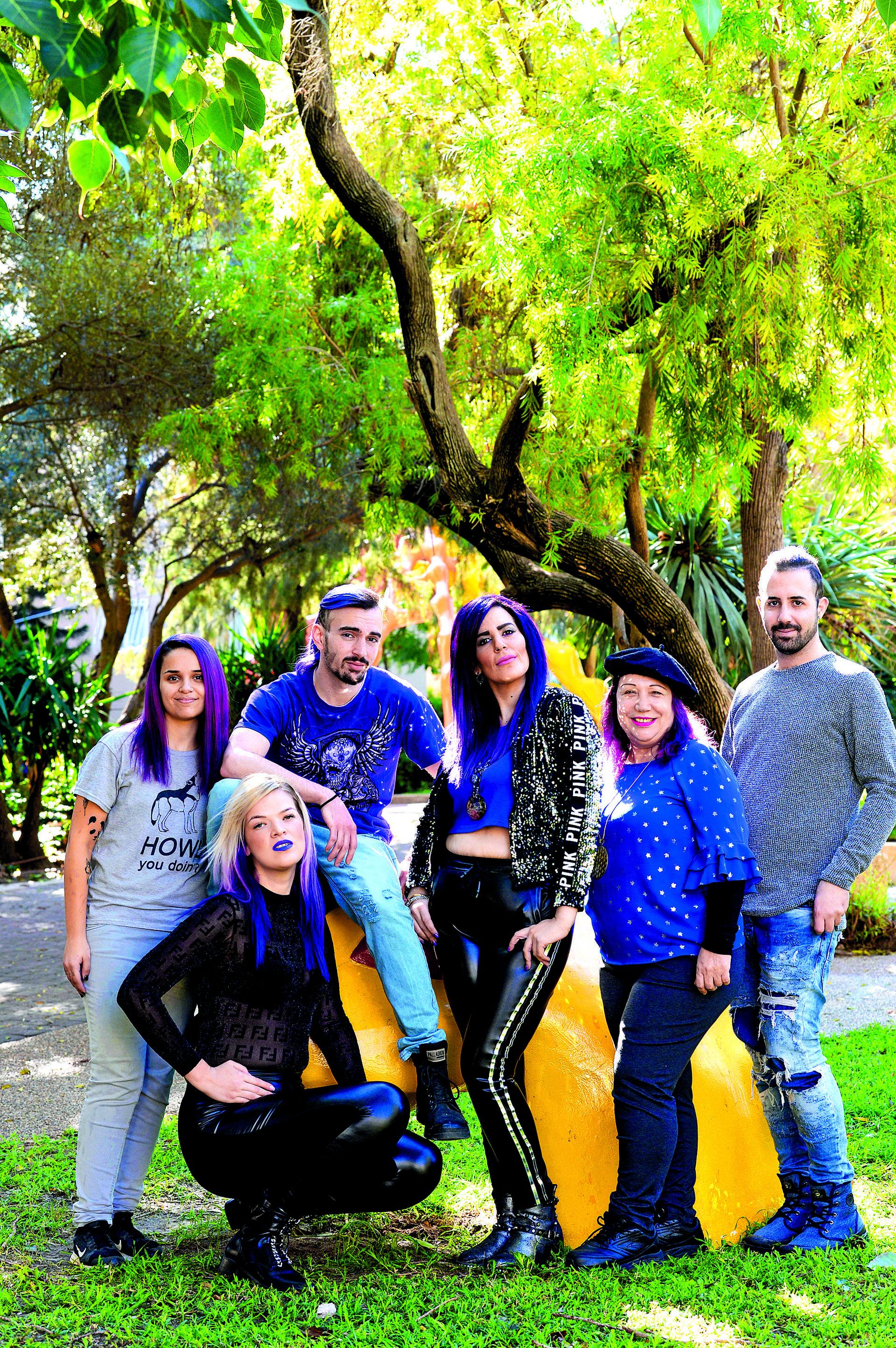 מועדון הסגולים: דניאלי, זק־נבו, אנקר, גולד, יוליה, ענבר עוזרי | צילום: קובי קואנקס