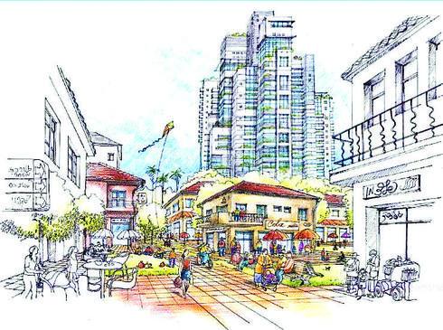 תוכנית הרחובות יעקב ובנימין   הדמיה: עירית סולסי דרור אדריכלים ומתכנני ערים