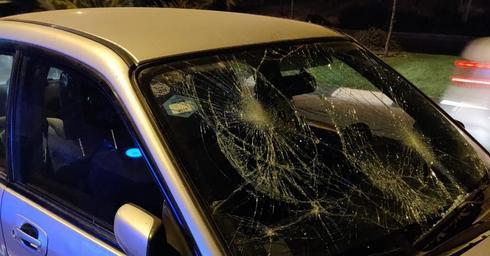 המכונית שניזוקה | צילום: דוברות איחוד הצלה
