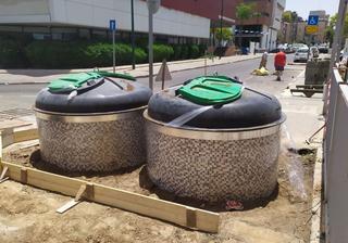 הפחים המוטמנים ברחובות | צילום: דוברות העירייה