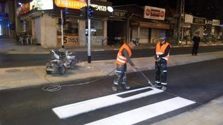 מכינים את הכבישים לחורף | צילום: עיריית רחובות